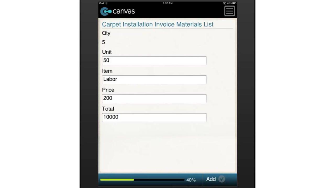 Carpet Installation Invoice BusinessFormTemplate Com YouTube - Carpet installation invoice template