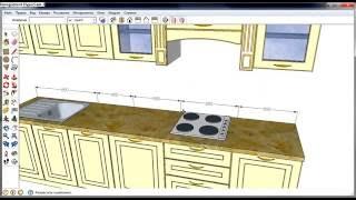 Проект кухни в Скетчап