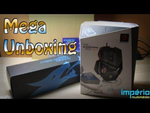 Unboxing de Natal - Mad Catz R.A.T.3 / Halfmman Draco Gaming