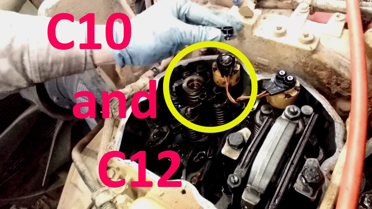 How To Install C10 and C12 Cat Injectors  Removal, Install, and Adjust  Injectors
