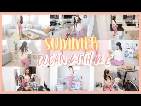 SUMMER CLEAN & DECORATE WITH ME! Cleaning Motivation ☀️