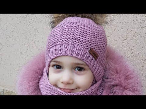 Как связать шапку для девочки спицами для начинающих