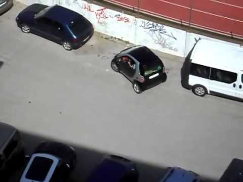Woman Parking Smart Car
