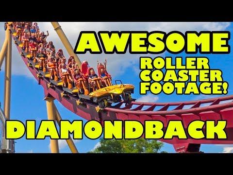 Diamondback Roller Coaster AWESOME Multi Angle POV Kings Island Ohio