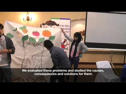 Children and young people's participation in peace building - Presenting four regional workshops