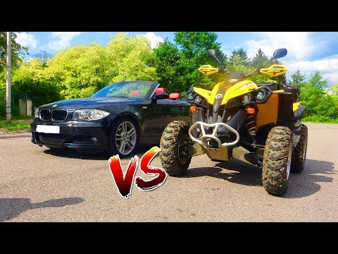 QUAD 500CC VS MA BMW ! (COURSE)
