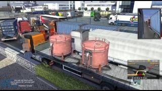 О_О Большущая пробка в Euro Truck Simulator 2 Multiplayer О_О
