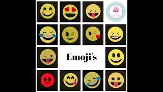 How to Make Emoji Expressions Emotions Silly Faces Cake Cupcake Decoration Tutorial