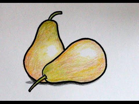 Cara Menggambar Buah Pear Pir Youtube