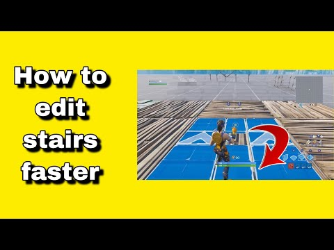 Fortnite how to edit stairs faster on console ps4/xbox