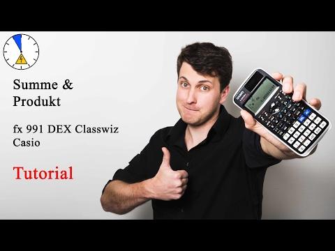 10 Summe und Produkt - Tutorial - Casio fx 991 DEX Classwiz