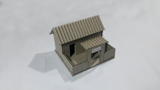 How To Make Cardboard House | Cardboard House For School Project | Small Cardboard House | House