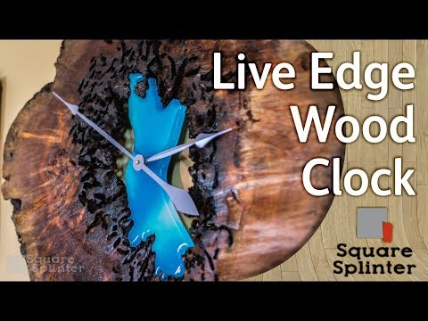 Resin & Live Edge Wood Slice Clock   Woodworking Art Projects