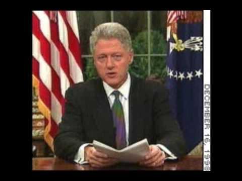 Clinton Iraq War WMD Speech in 1998 Desert Fox Bush Lied? P1