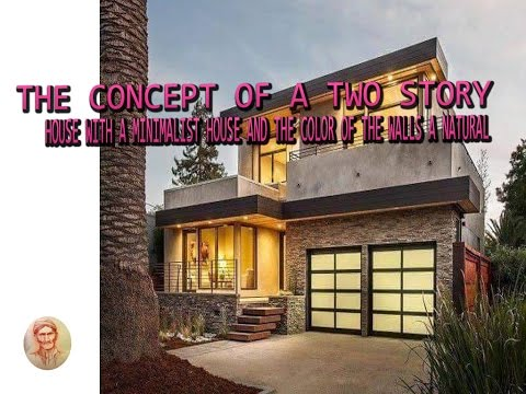 The Concept Of A Two Story House With A Minimalist House And The