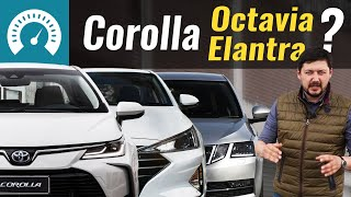 Corolla, Octavia или Elantra? Тест 2020