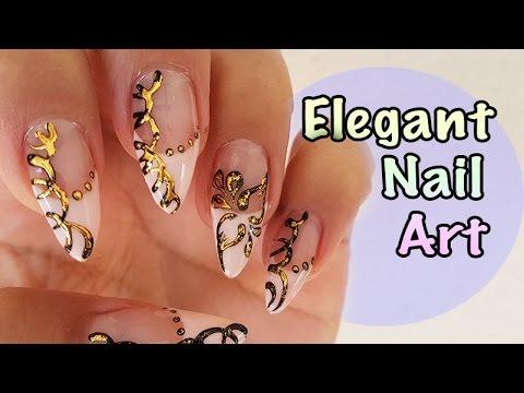 Vintage Nail Art Design