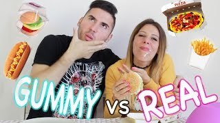 CIBO GOMMOSO vs CIBO REALE - GUMMY FOOD vs REAL FOOD CHALLENGE