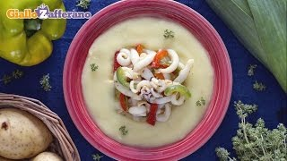 Creamy Potato Soup With Baby Cuttlefish - Recipe