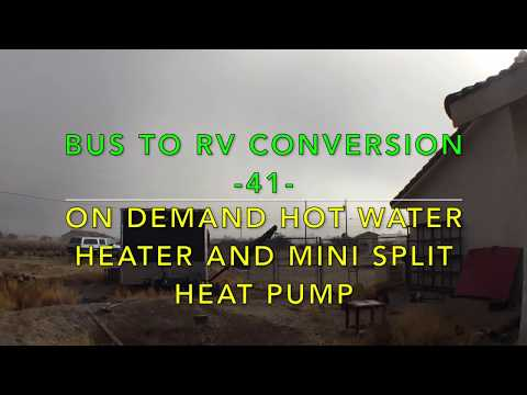 Bus to RV Conversion -41- On demand hot water heater and mini split heat pump