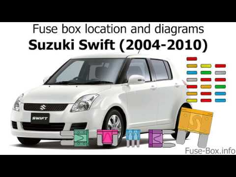 fuse box location and diagrams: suzuki swift (2004-2010) - youtube  youtube