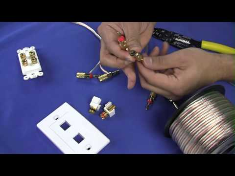 How To Install Banana Plugs and Banana Plug Wall Plates - CableWholesale