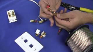 How To Install Banana Plugs and Banana Plug Wall Plates - CableWholesale