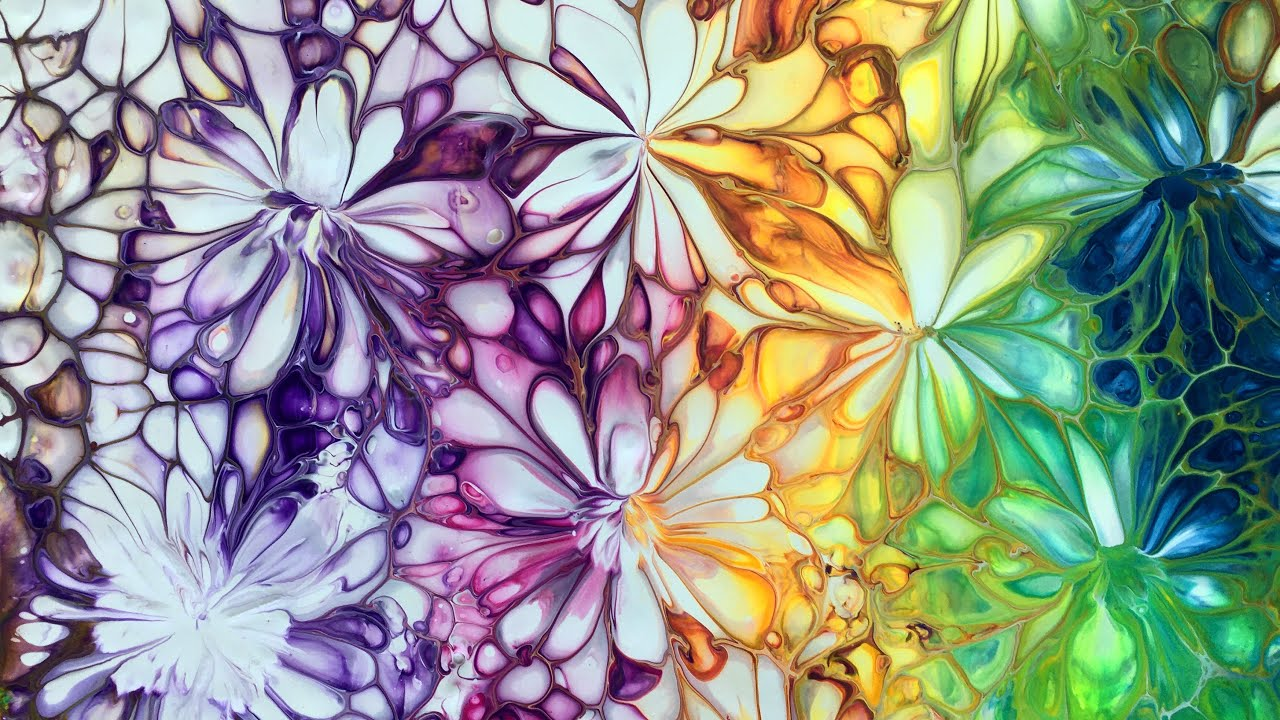 BALLOON SWIPE ACRYLIC POUR - EASY FLUIDART TUTORIAL #acrylicpouring #fluidart #painting