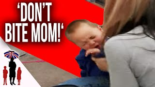 Jo Frost Steps In When 3 Year Old Bites Mom | Supernanny USA