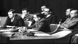 Andrei Gromyko speaks about the Czech case during a United Nations Security Counc...HD Stock Footage