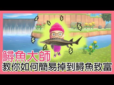 【發妮FAFA】鱘魚大師教你如何簡易釣到鱘魚致富   動物森友會   鱘魚   釣魚   四月   攻略   FAFA - YouTube