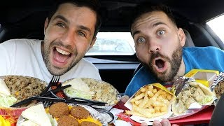 TRYING THE BEST CHICKEN AND RICE with JOSH PECK!!