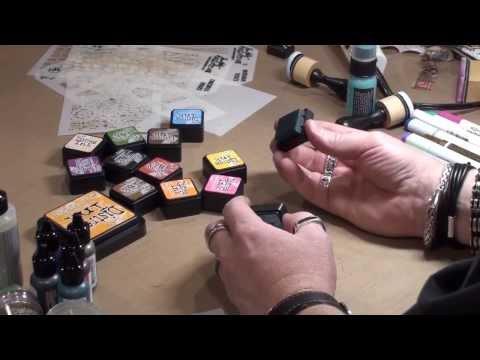 Tim Holtz demos Distress Ink Minis and Mini Blending Tool at CHA 2014
