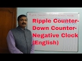Ripple Counter-  Down Counter- Negative Clock-Digital Electronics