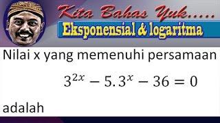 Download Video persamaan eksponensial 3^2x-5×3^x-36=0 MP3 3GP MP4