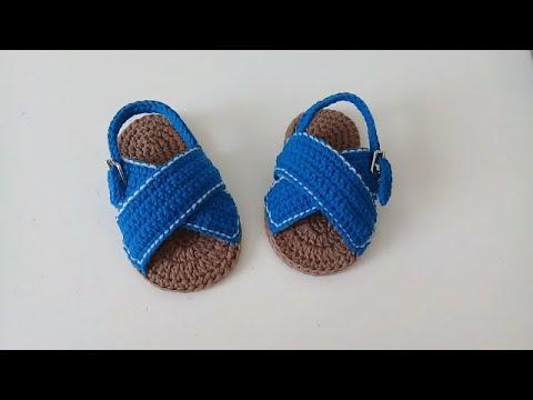 Bebe Meses Crochet Sandalias Cruzadas A Youtube 3 6 Para qSpGMUzV