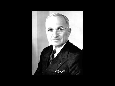 Harry S.  Truman     Announcing Surrender of Germany