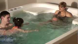 видео гидромассажный бассейн