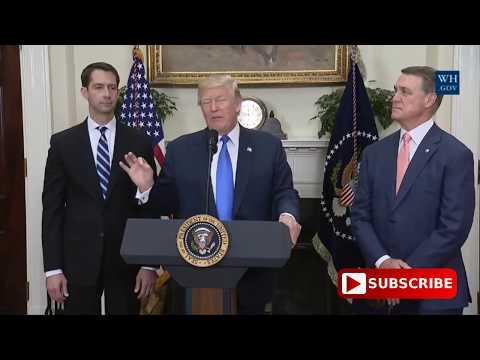 President Donald Trump Regarding The New IMMIGRATION ACT - AUG 2 2017
