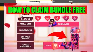 Free Fire New Valentines Party Event Full Details // How to Claim Free Male and Female Bundle