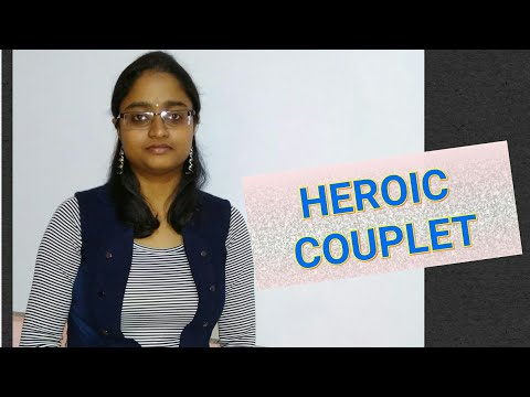 What is heroic couplet??