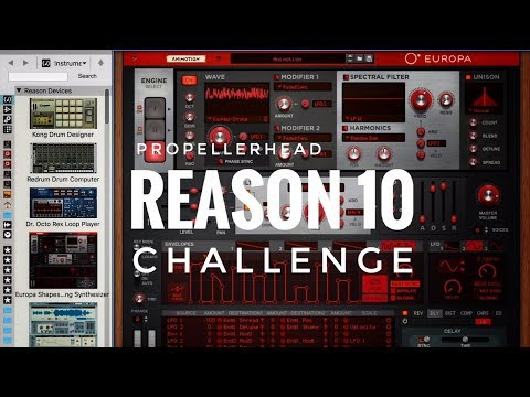 Propellerhead Reason 10 Challenge - (Organic Instruments) featuring all new instruments and sounds