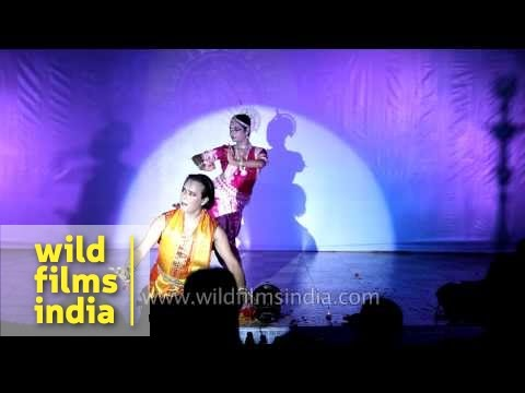 Odissi and Manipuri fusion dance