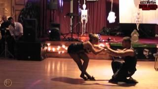 Iris De Brito and Nuno Campos perform kizomba show in Halloween Salsa Special on 27th October 2012