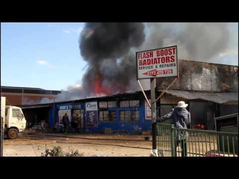 Fire Burns down city shop