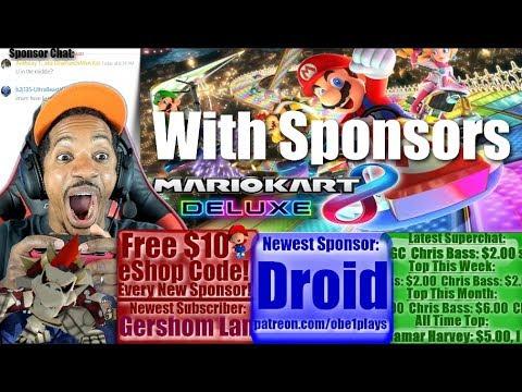 Mario Kart 8 Deluxe & Rocket League With Sponsors On Nintendo Switch