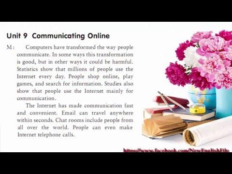 Unit 9 Communicating Online | Listening Practice through Dictation Level 4