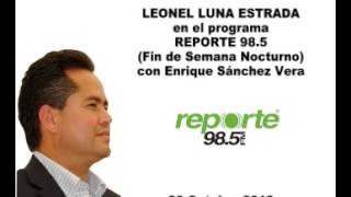 Antonio Valerio Delgado en Reporte 98.5 Entrevista Jefe Delegacional de AO.