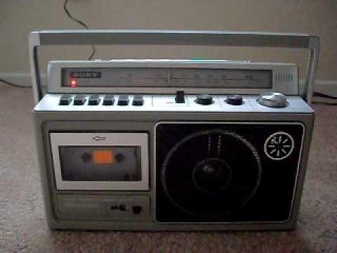 Vintage tragbare Kassettenrekorder