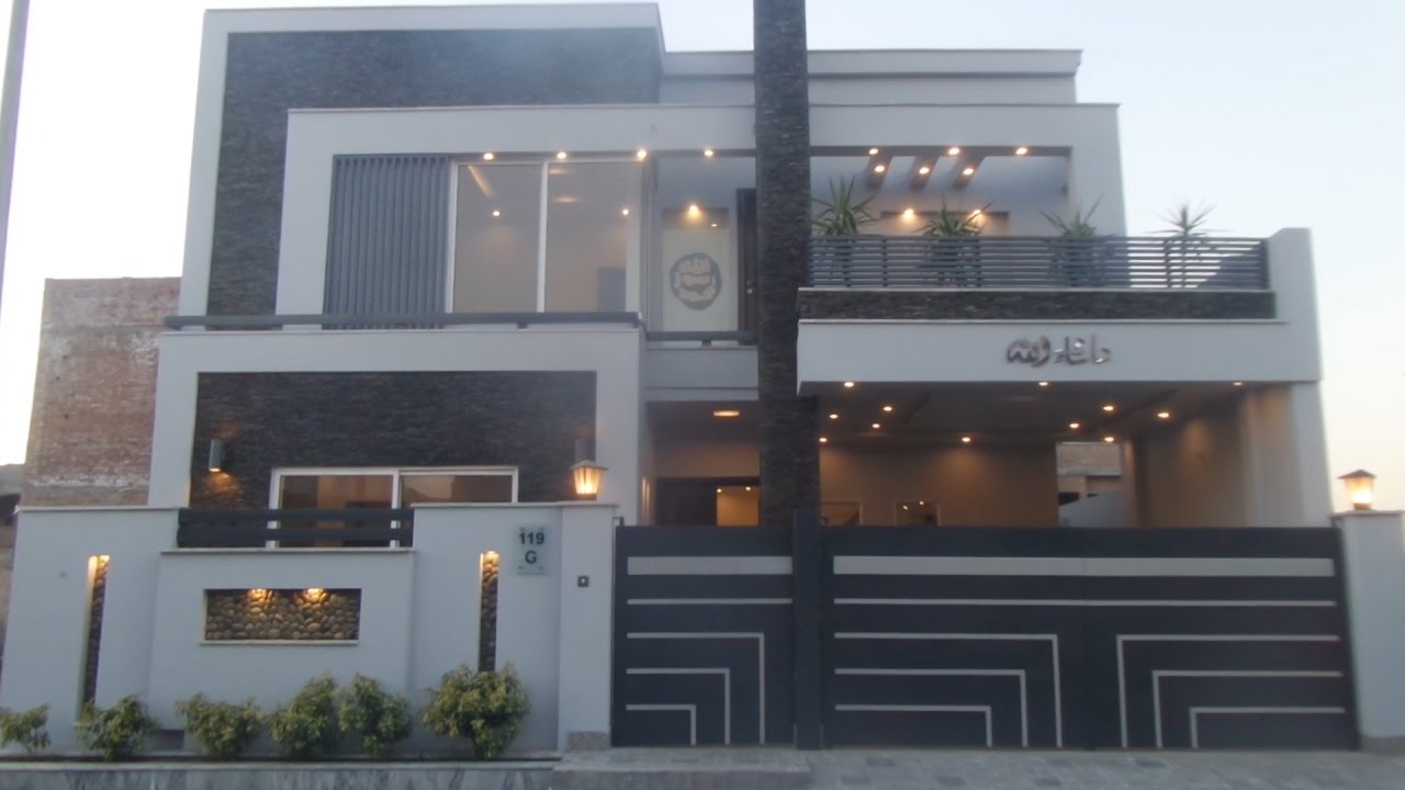 Double storey house is available for sale in eden garden executive block faisalabad